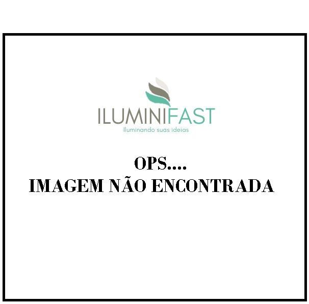 Luminaria Pendente PE-009 1 Lâmpada 30cm Pr-Branco Itamonte